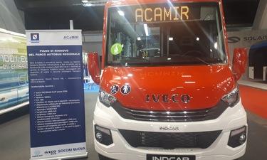 Al Bus World di Bruxelles, i minibus che saranno destinati dalla Regione Campania alle Aziende di...